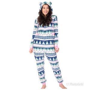 Munki Munki Plush Onsie Pajamas/Loungewear Size XS